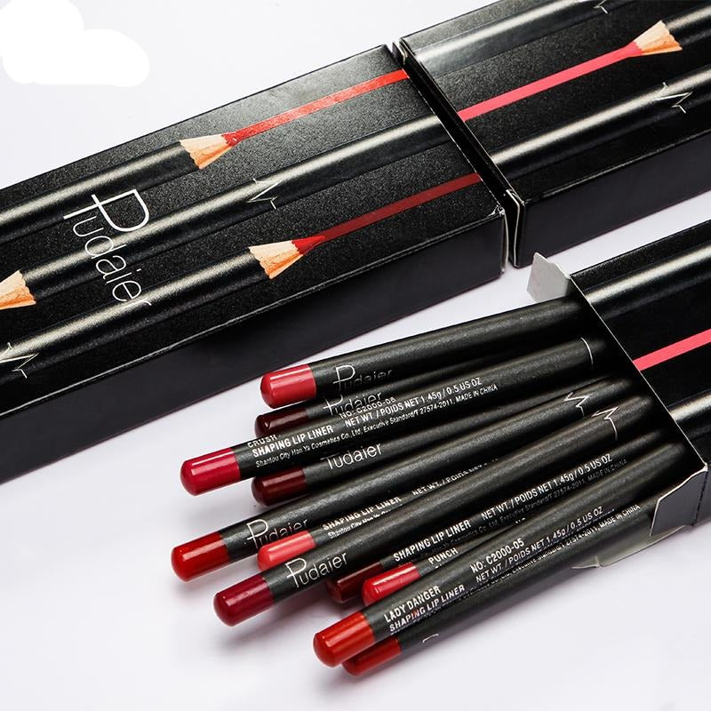 Pudaier Pencil Lipliner 12PCS/Set Color
