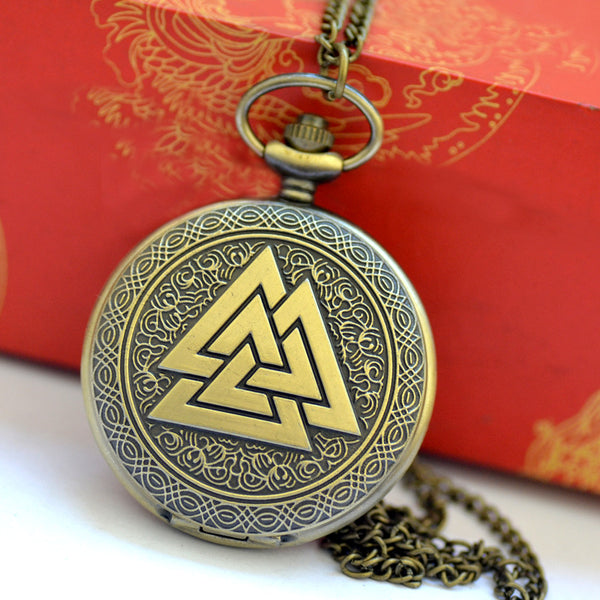1014Triangle pocket watch retro stack triangle pyramid pocket watch three triangle pocket watch