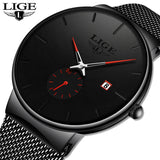 LIGE Quartz Clock Sports Men Watch Top Brand Luxury Famous Dress Fashion Watches Male Unisex Ultra Thin Wrist watch Para Hombre