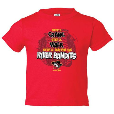 Quad Cities River Bandits Bimm Ridder Infant Crawl Tee