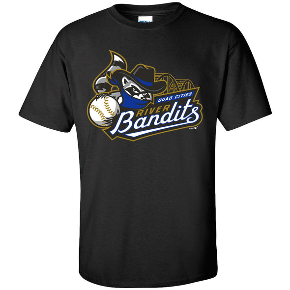 Quad Cities River Bandits Alternate Color Primary Logo T-Shirt