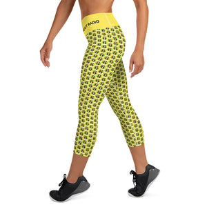 Yoga Capri Leggings - Championship Belt POWER PANTS!