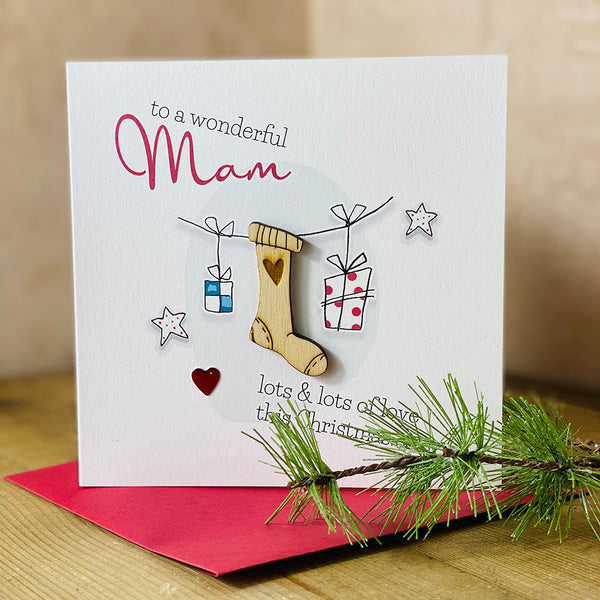 To a wonderful Mam lots & lots of love this Christmas x