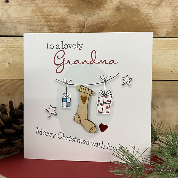 To a lovely Grandma Merry Christmas with love…x