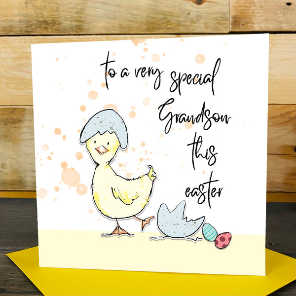 Happy Easter Little One, Chick & Blue Egg