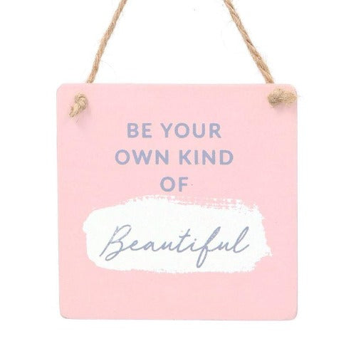Be Beautiful Wood Plaque