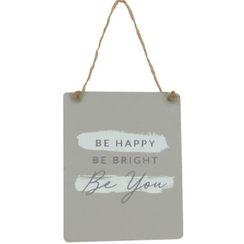 Be Happy Wood Plaque