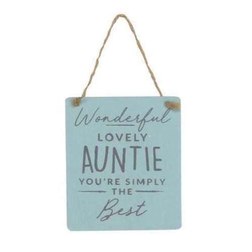 Lovely Auntie Wood Plaque