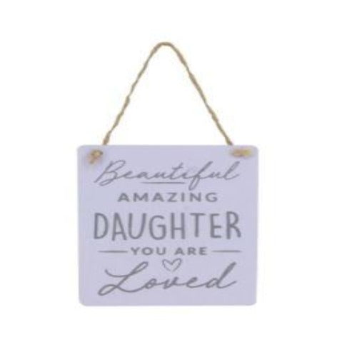 Amazing Daughter Wood Plaque