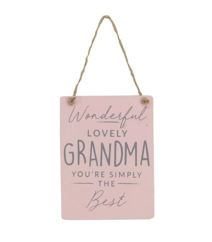 Lovely Grandma Wood Plaque