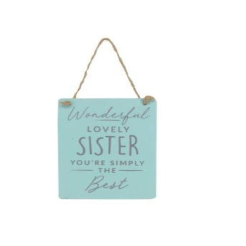 Lovely Sister Wood Plaque