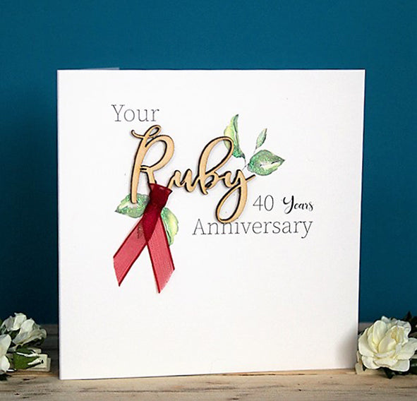 Your Ruby Anniversary 40 years