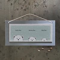 Daddy Bear, Mummy Bear, Baby Bear plaque