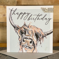 Happy Birthday...Highland Cow