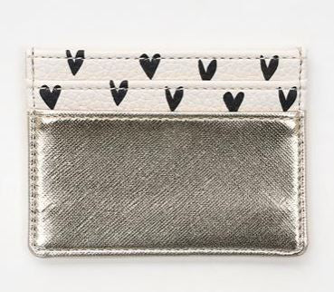 Gold & Hearts Card Holder