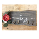 Floral Key Rack, 'Keys'
