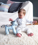 Moonbeam Unicorn Pull Along Blue