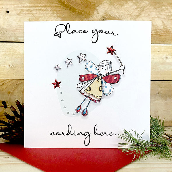 Personalised Wooden Fairy Card