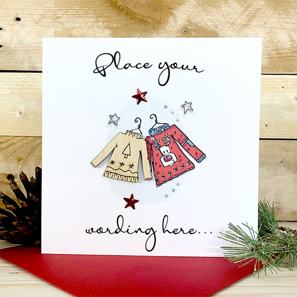 Personalised Wooden Jumper Card