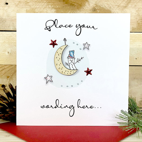Personalised Wooden Moon Card