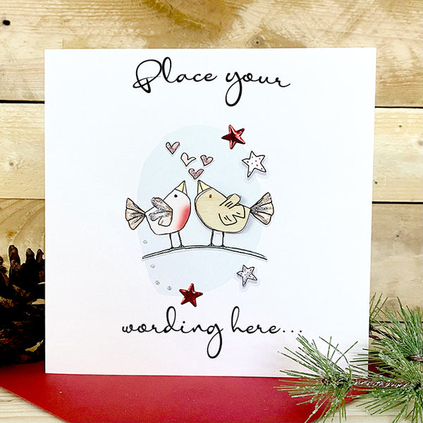 Personalised Birdy Christmas Card