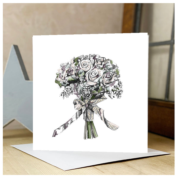 Personalised Flower Bouquet Card