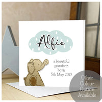 Personalised Wooden Elephant Card