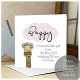 Personalised Wooden Giraffe Card