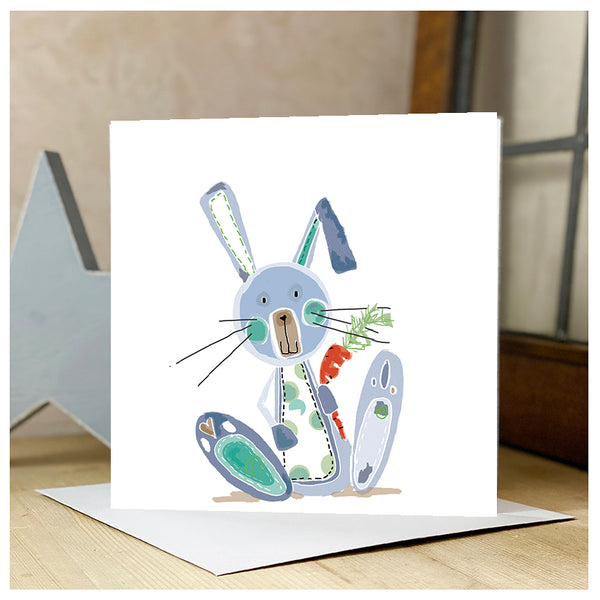 Personalised Quirky Bunny Card