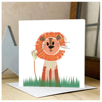Personalised Lion Card