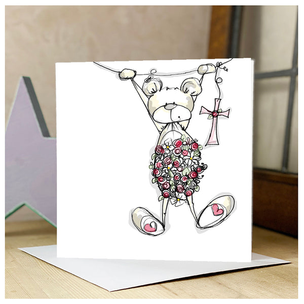 Personalised Bear with Cross