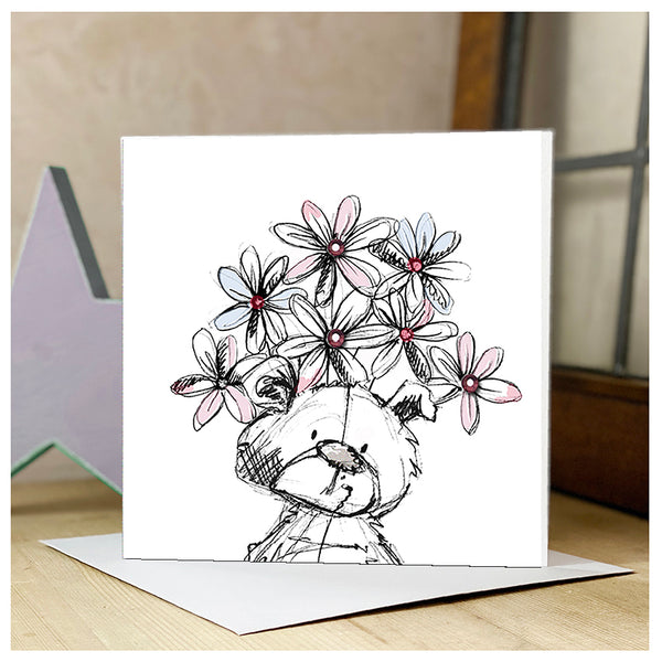Scribble Bear Personalised Card