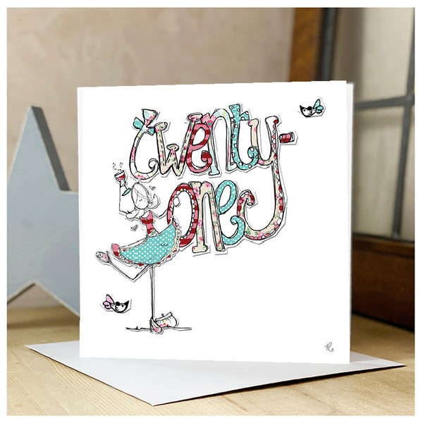 21st Personalised Birthday Card