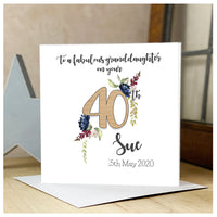 Personalised Wooden Age Flower Card