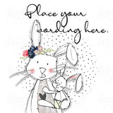 Personalised Mother Rabbit & Baby Bunny Card