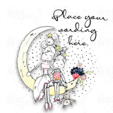 Personalised Lady & Girl Moon Card