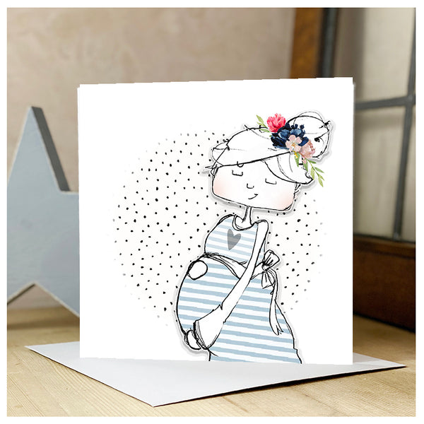 Personalised Baby Bump Card