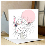 Personalised Bunny Rabbit Card