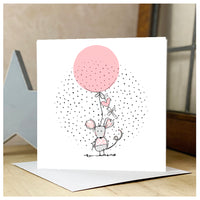Personalised Mouse & Cross Card