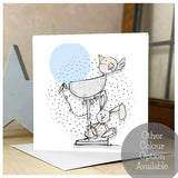 Personalised Font Christening Card