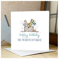Personalised Wooden Tool Box Card