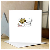 Personalised Wooden Dog Card