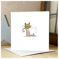 Personalised Wooden Cat Card