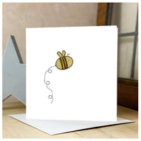 Personalised Wooden Bee Card