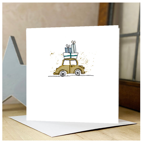 Personalised Wooden Car Card