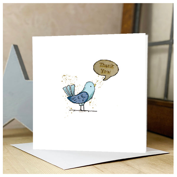 Personalised Thank You Card - Bird