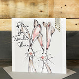 Personalised Hare Card