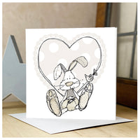 Personalised Neutral Baby Rabbit Card