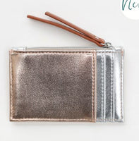 Rose Gold & Silver Card Holder & Coin Purse