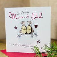 Tae a lovely Mum & Dad have a braw wee Christmas…x